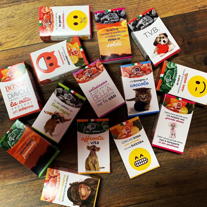 scatole divertenti caramelle